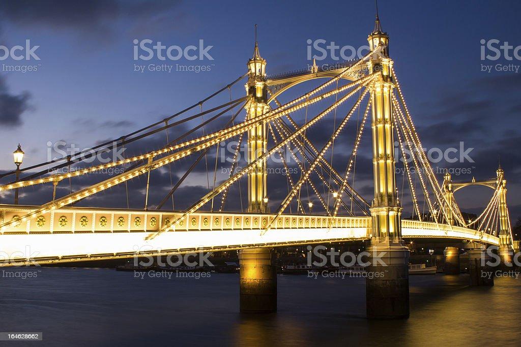 Albert bridge London royalty-free stock photo