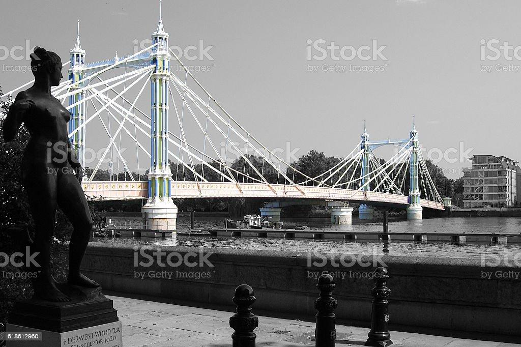 Albert Bridge - London stock photo