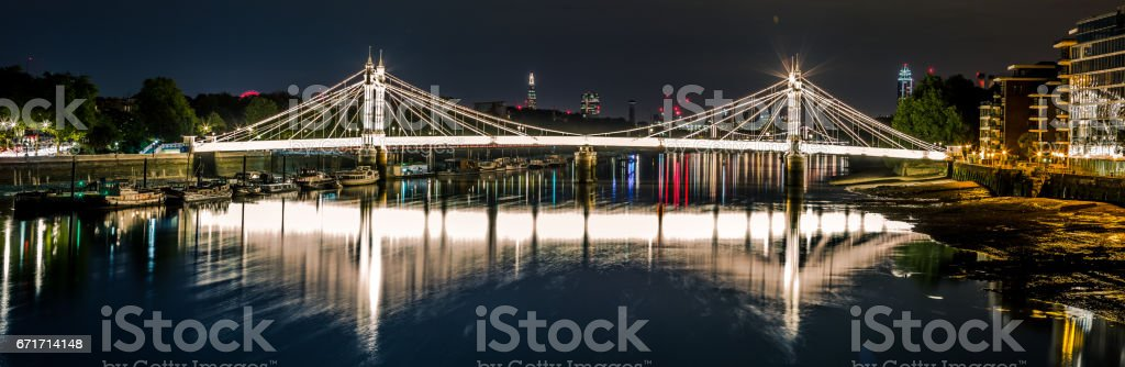 Albert Bridge, London stock photo