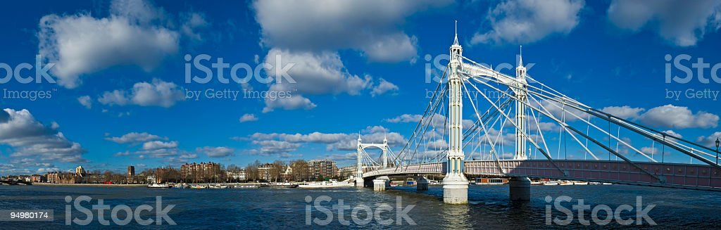 Albert Bridge London stock photo