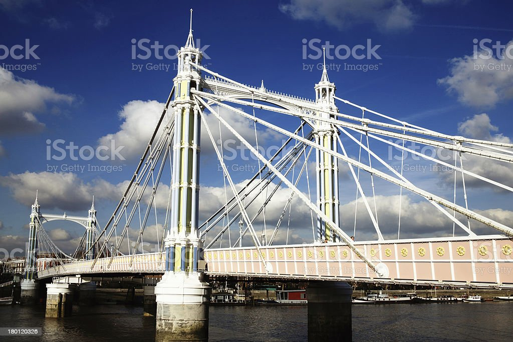 Albert Bridge stock photo