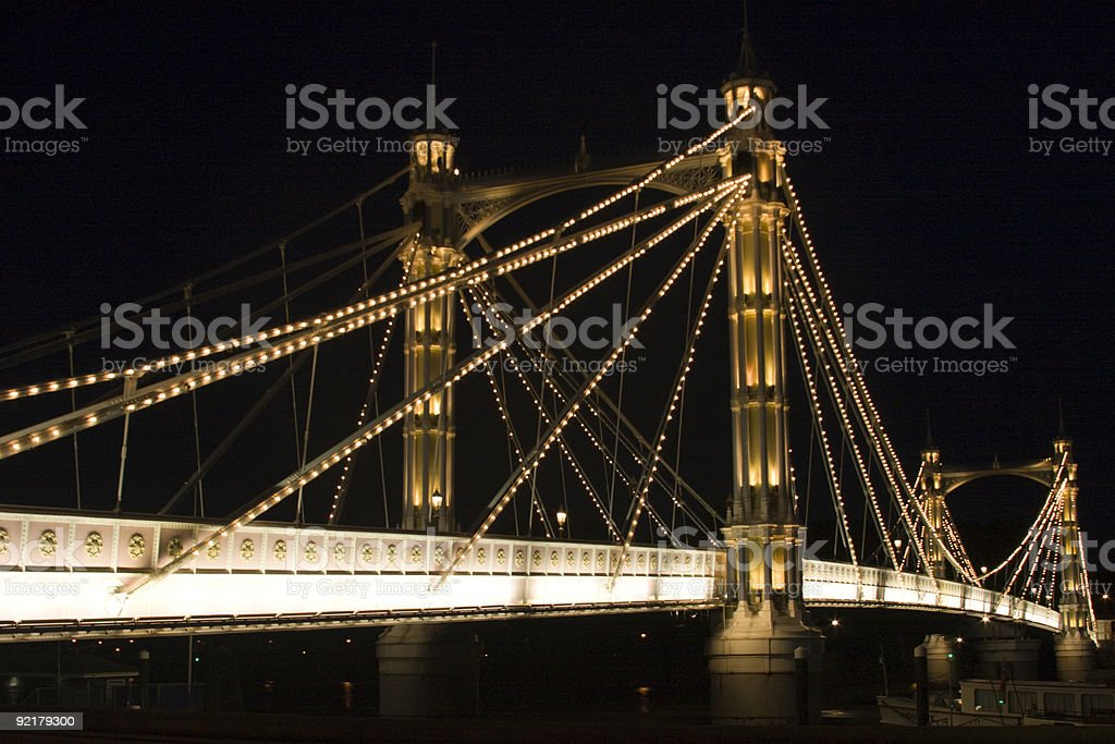 Albert Bridge royalty-free stock photo