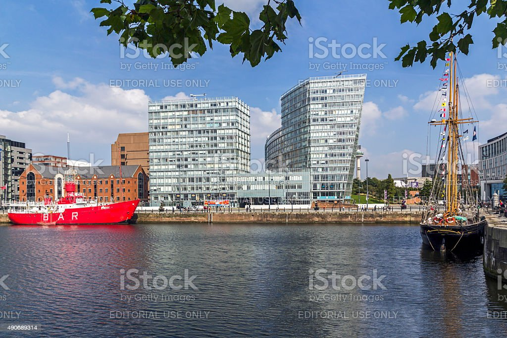 Albert dock Liverpool stock photo