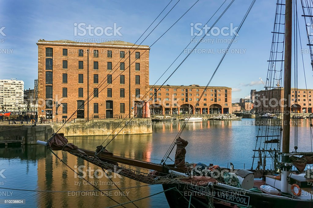 Albert Dock Liverpool stock photo