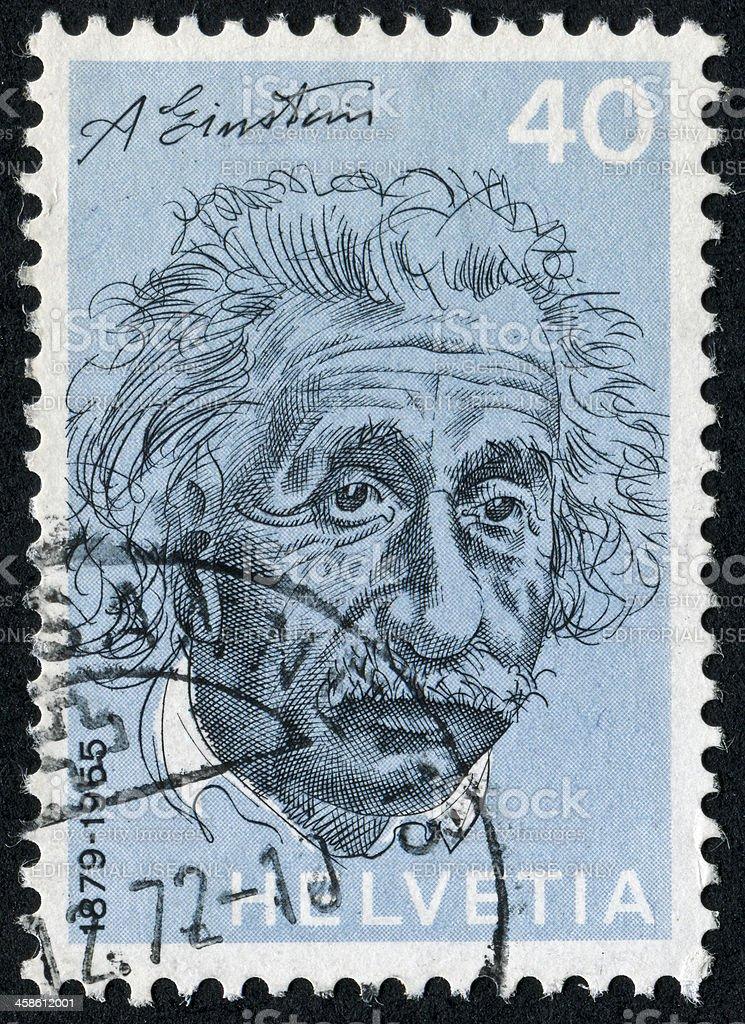 Albert Einstein Stamp stock photo