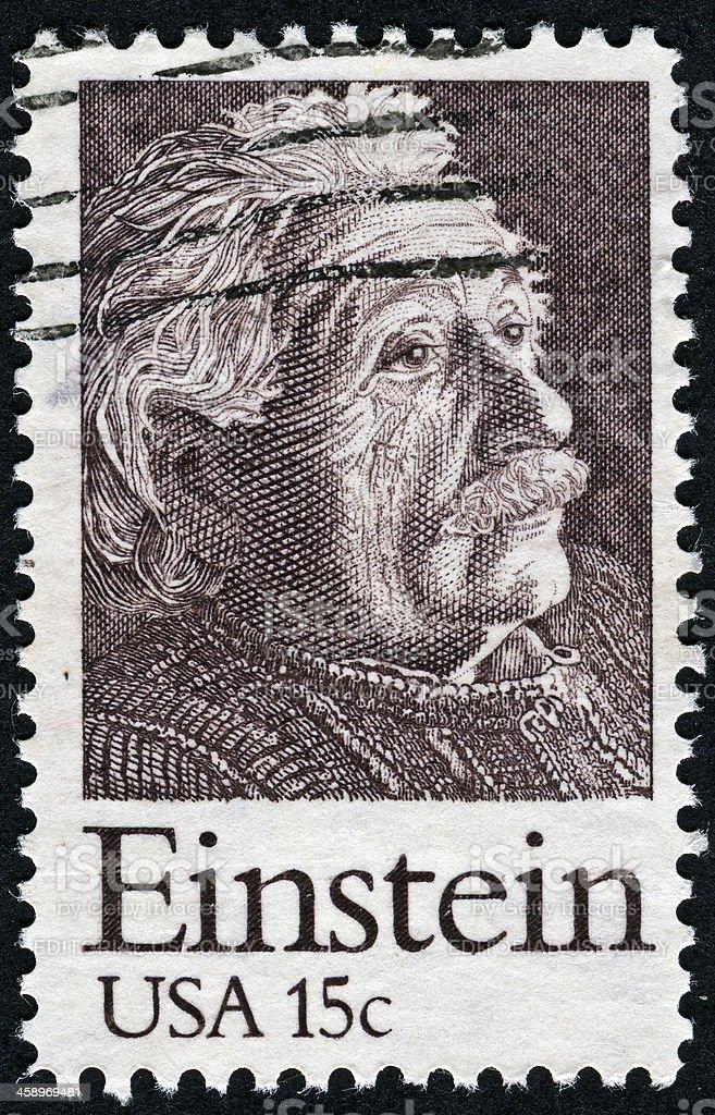 Albert Einstein Stamp royalty-free stock photo