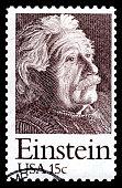 Albert Einstein USA postage stamp