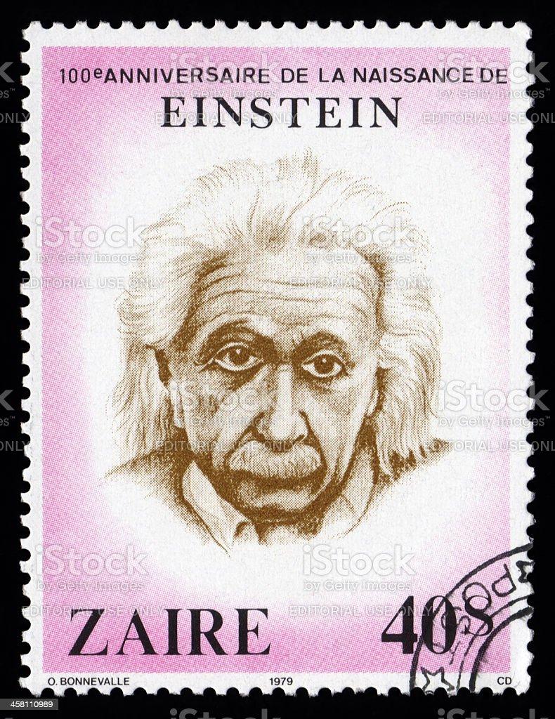 Albert Einstein Zaire postage stamp stock photo