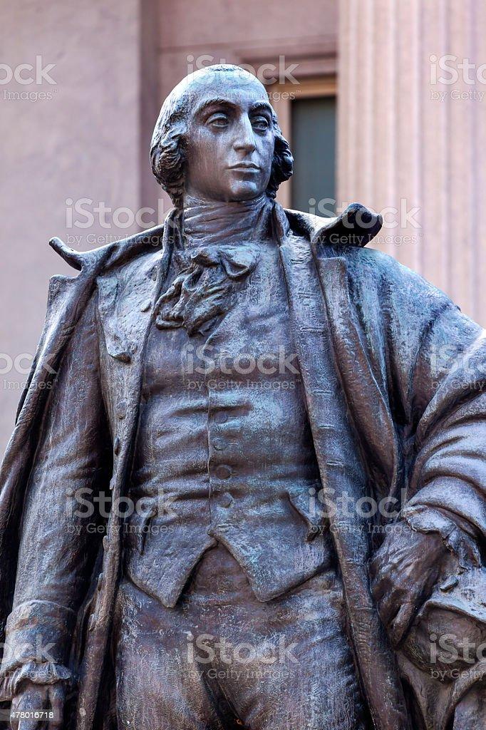 Albert Gallatin Statue US Treasury Department Washington DC stock photo