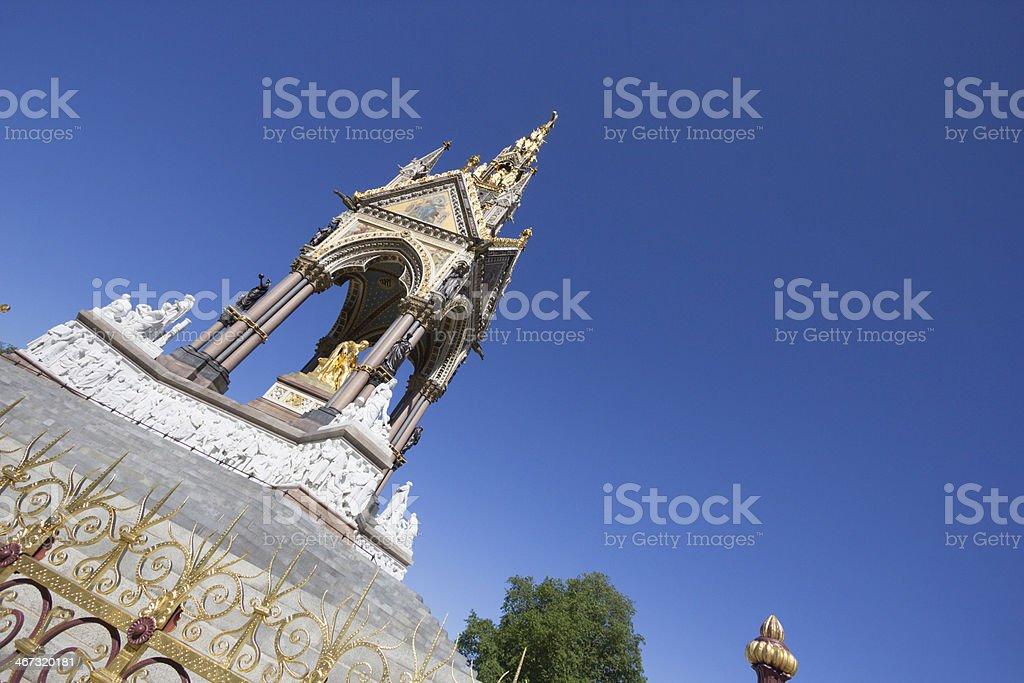 Albert Memorial in Kensington Gardens, London royalty-free stock photo