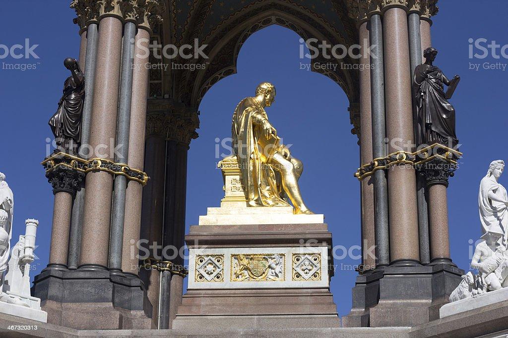Albert Memorial in Kensington Gardens, London stock photo