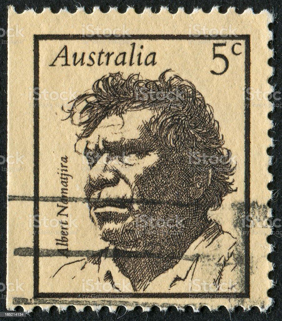 Albert Namatjira Stamp royalty-free stock photo