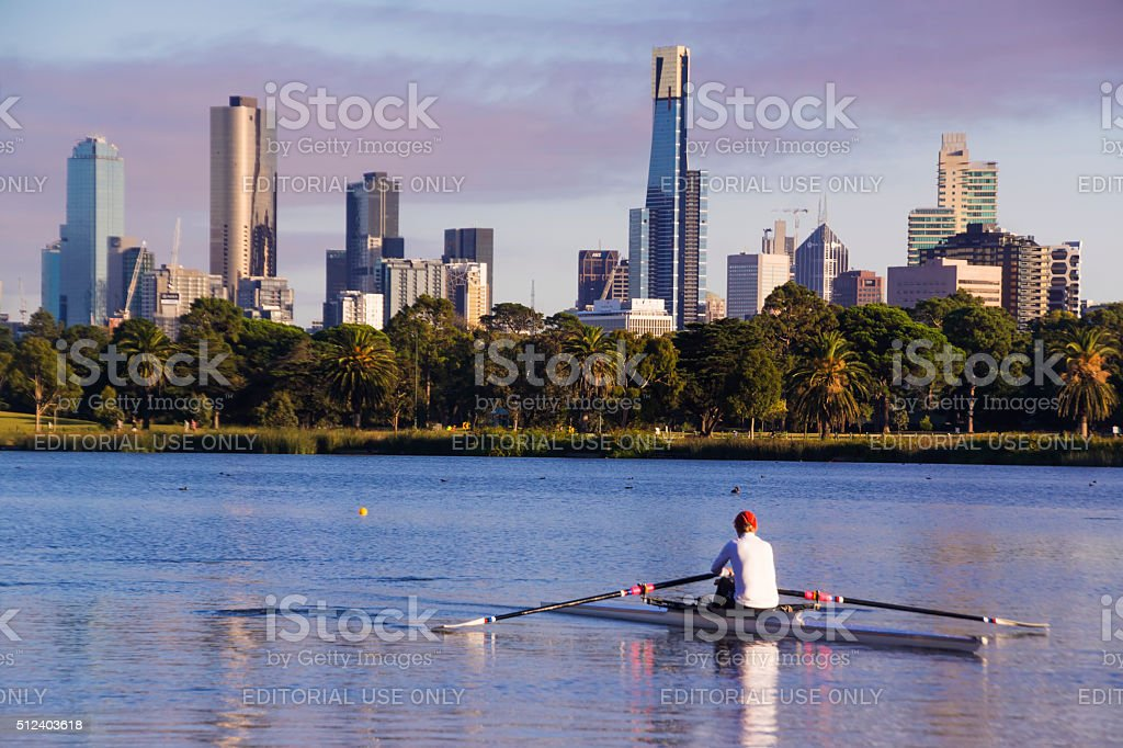 Albert Park Lake stock photo