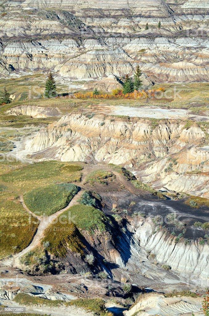 Alberta Badlands Near Drumheller stock photo