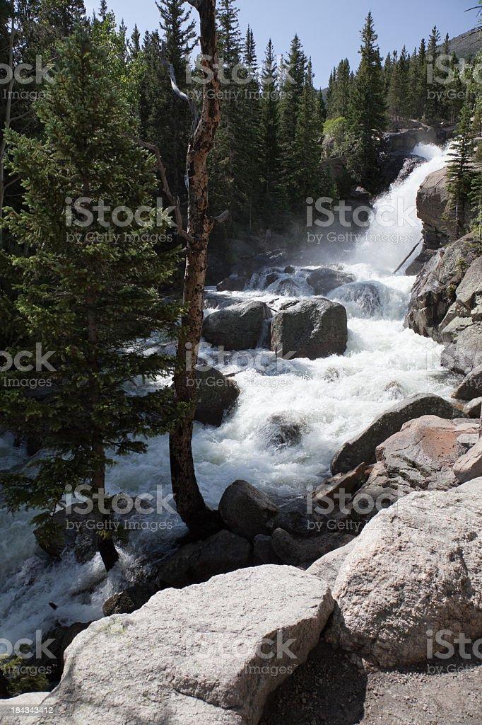 Alberta Falls, Rocky Mountain National Park, Colorado stock photo