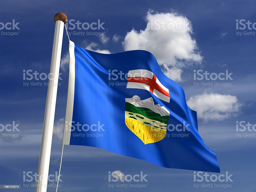 Alberta flag Canada stock photo