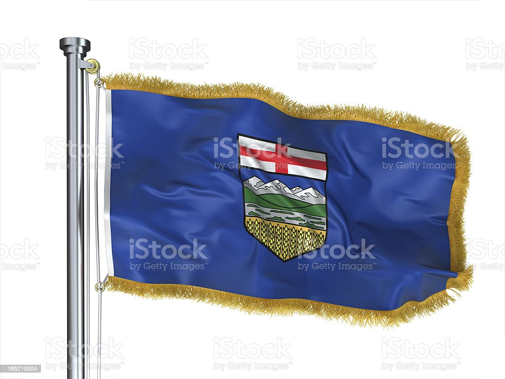 Alberta Flag stock photo