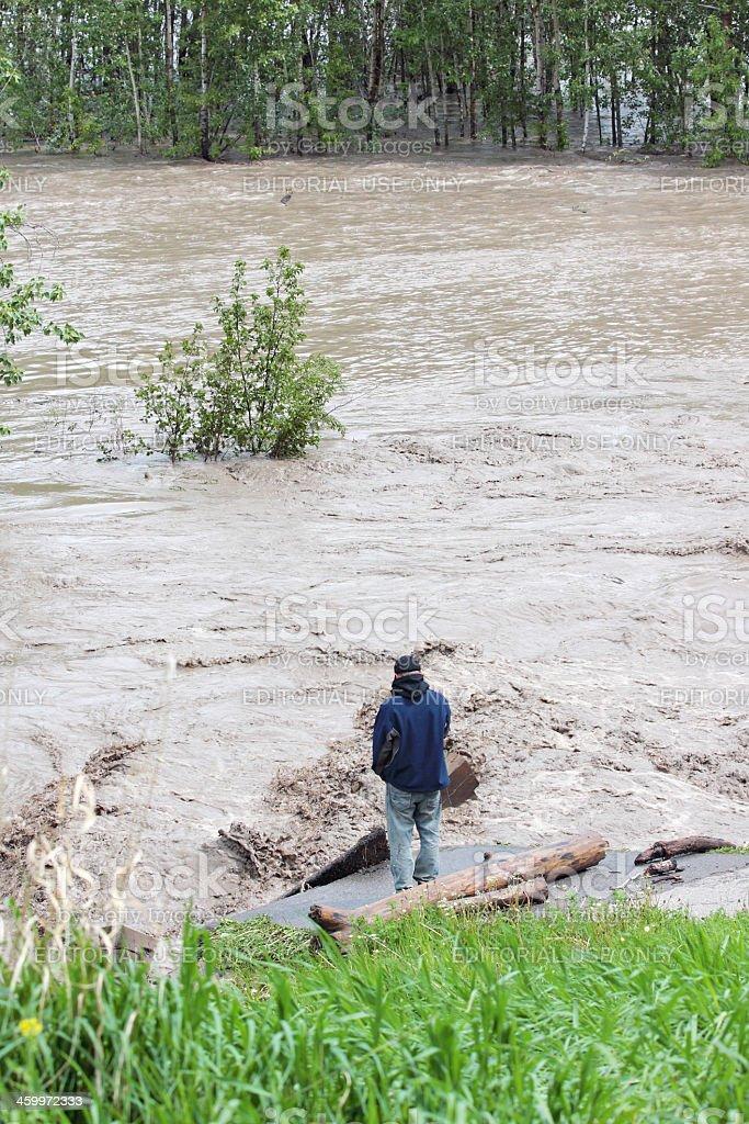 Alberta flood 2013 stock photo