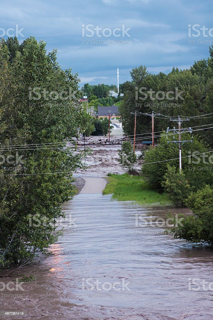 Alberta Flood Damage stock photo