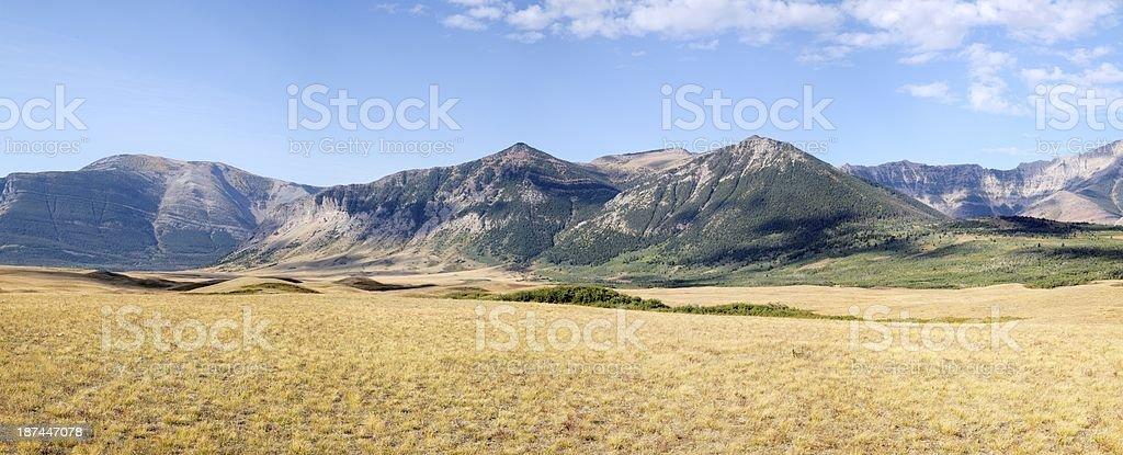 Alberta Foothills near Waterton National Park in autumn. stock photo