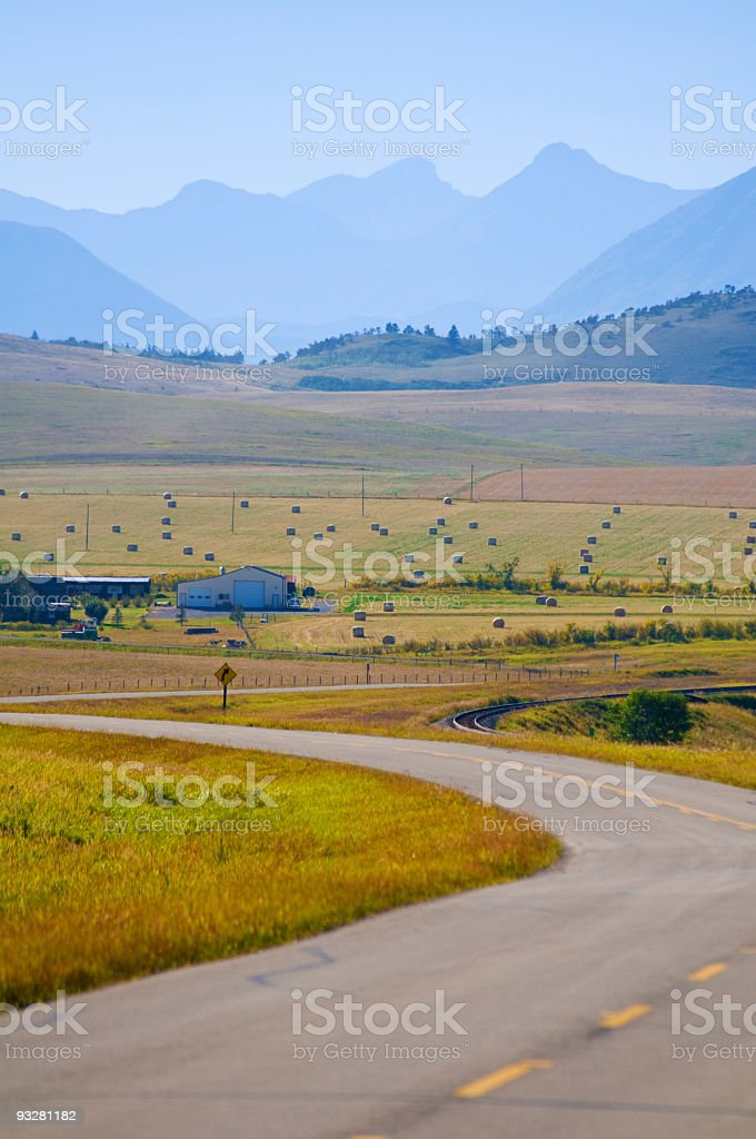 Alberta landscape with mountains. royalty-free stock photo