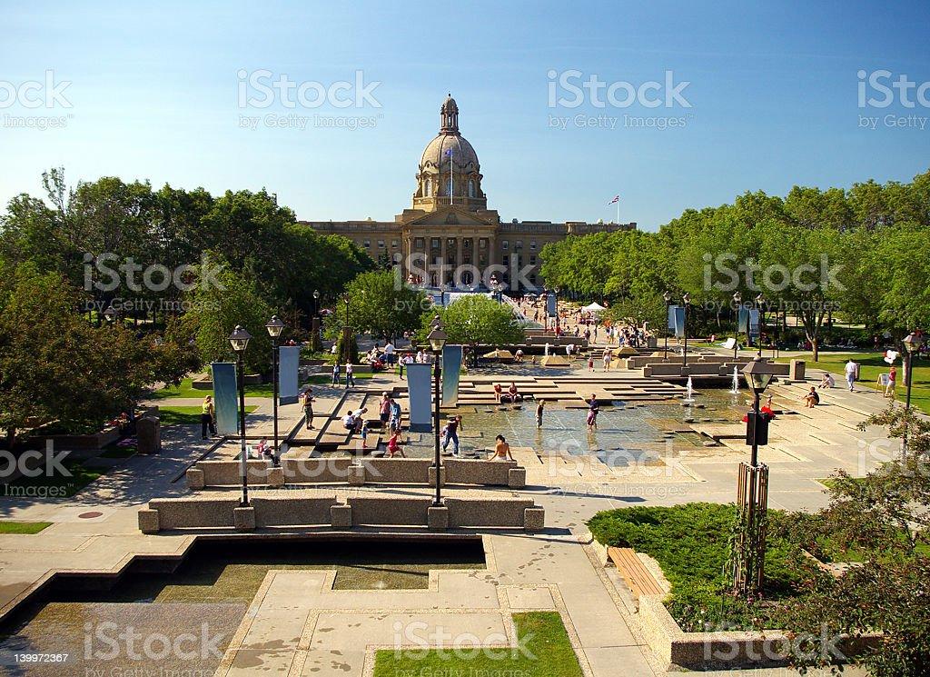 Alberta Legislative Building royalty-free stock photo