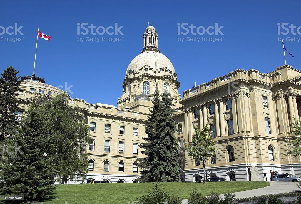 Alberta Legislature royalty-free stock photo
