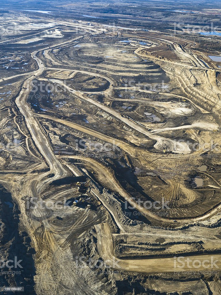Alberta Oilsands royalty-free stock photo