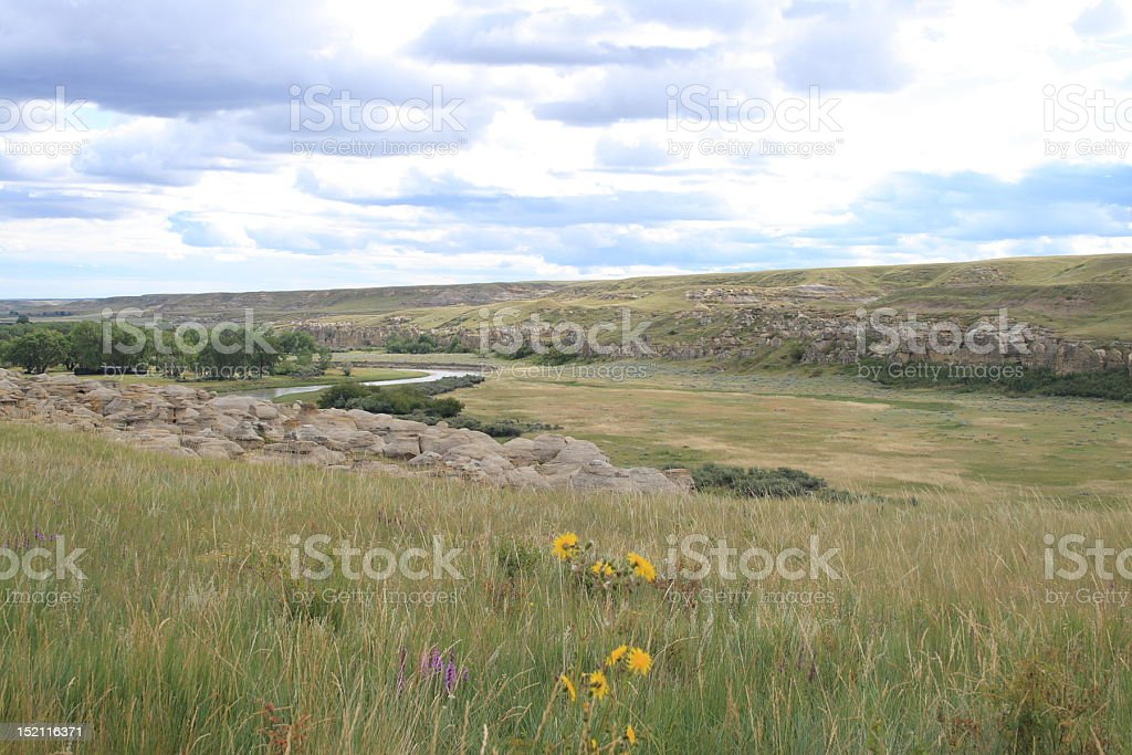 Alberta Prairies stock photo