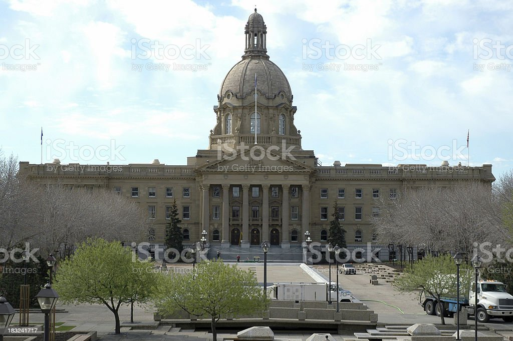 Alberta Provincial Legislature stock photo