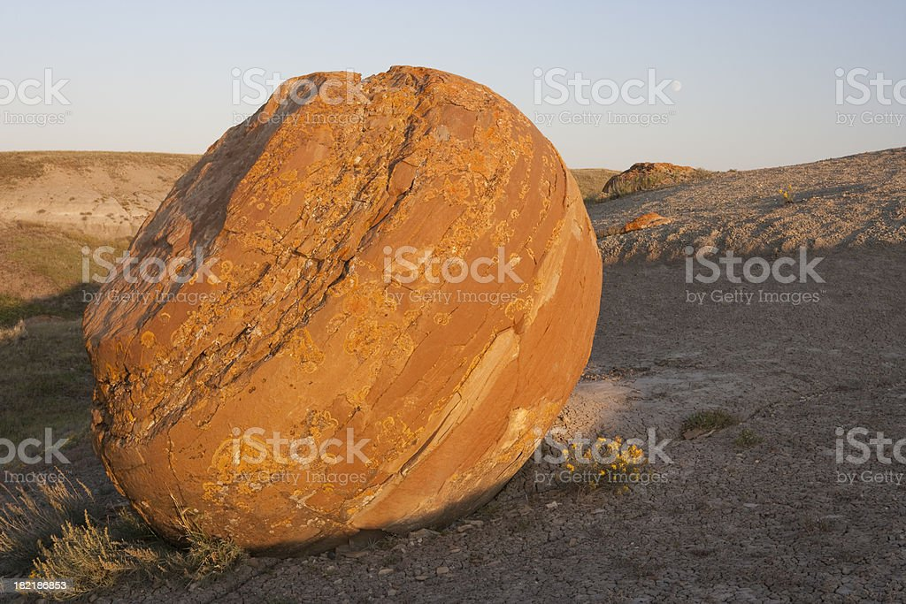 Alberta Red Rock Coulee stock photo