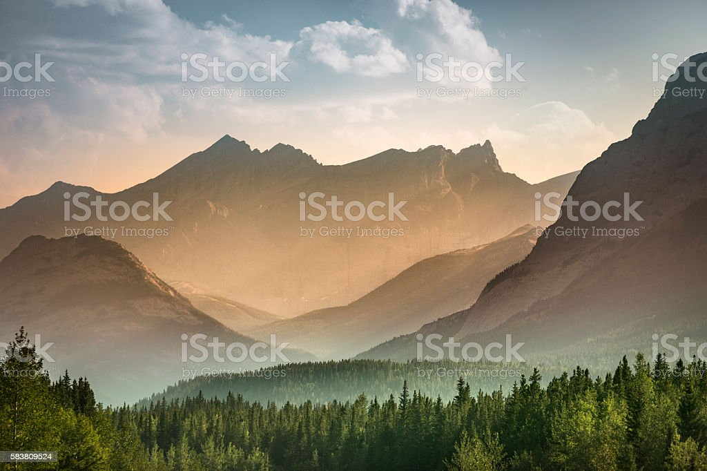 Alberta wilderness near Banff stock photo
