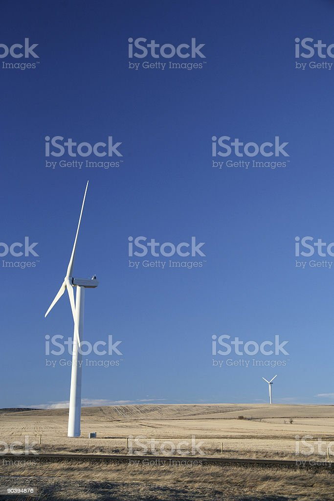 alberta windmills stock photo