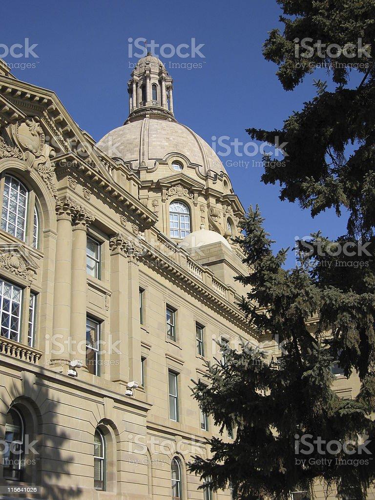 Alberta's Legislative Building royalty-free stock photo