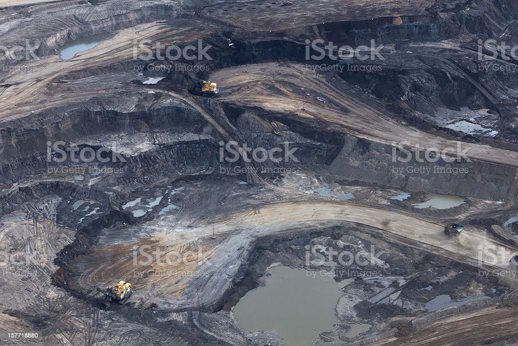 Alberta's Oilsands royalty-free stock photo