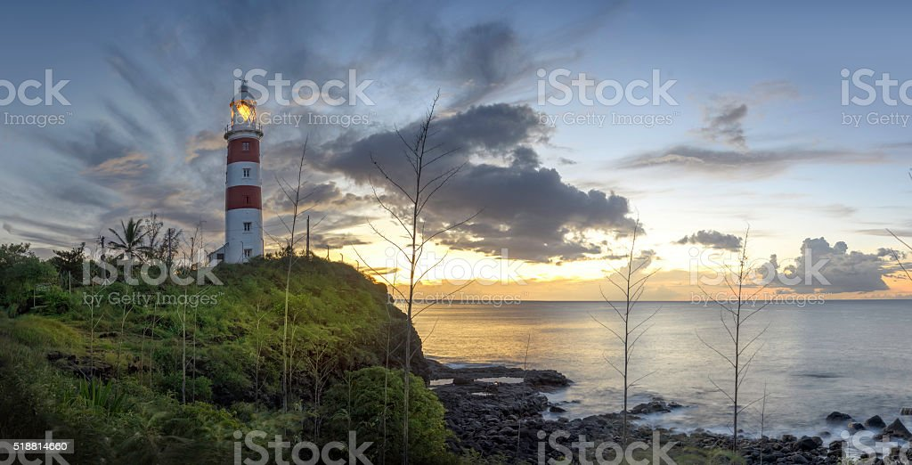 Albion Lighthouse stock photo