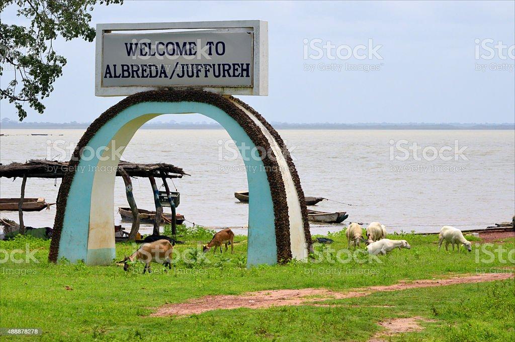 Albreda arch, Gambia stock photo