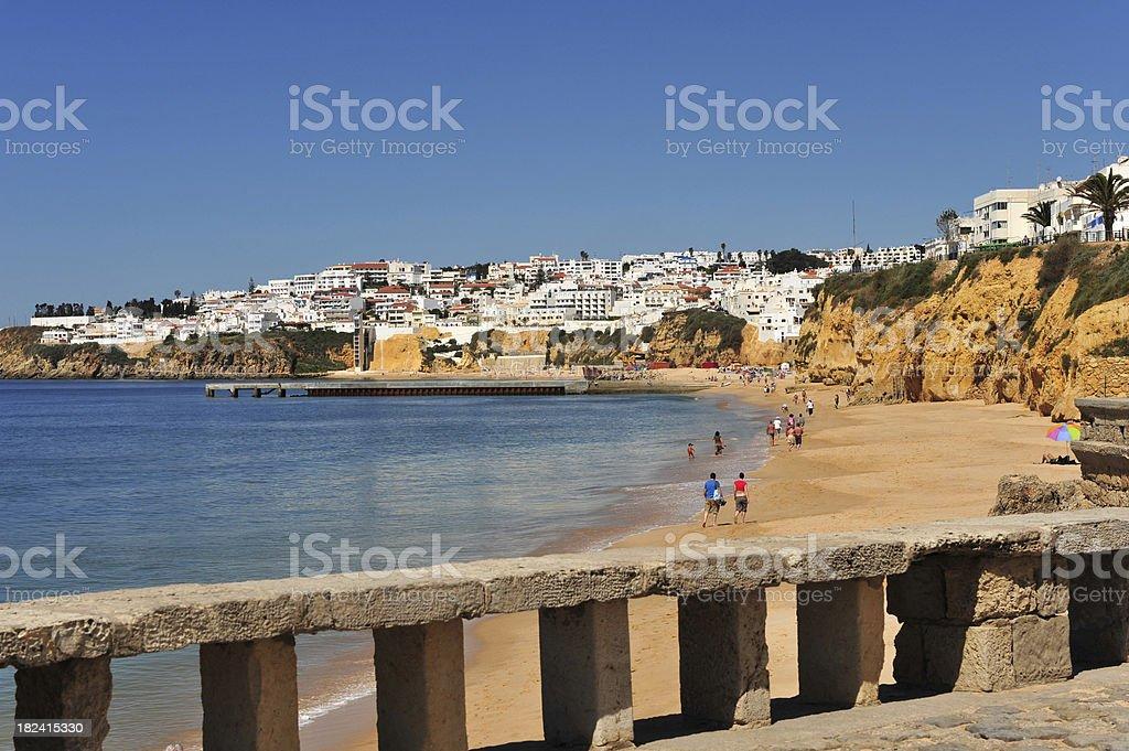 Albufeira beach, Algarve, Portugal stock photo
