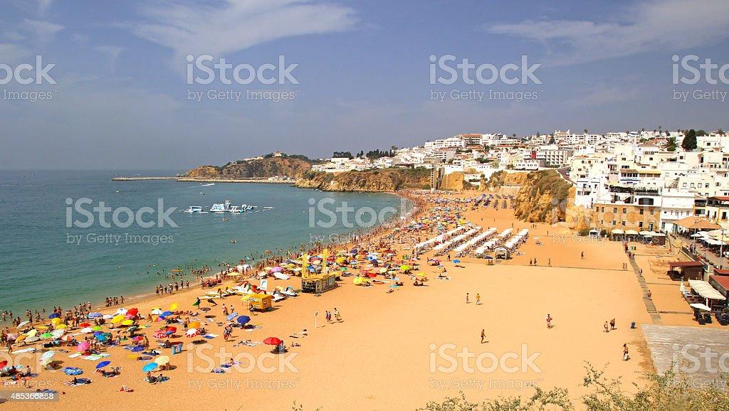 Albufeira in Algarve, Portugal. stock photo