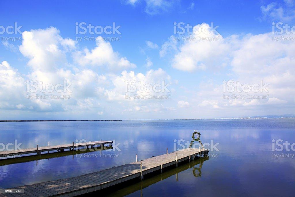 Albufera lake in Valencia El Saler stock photo
