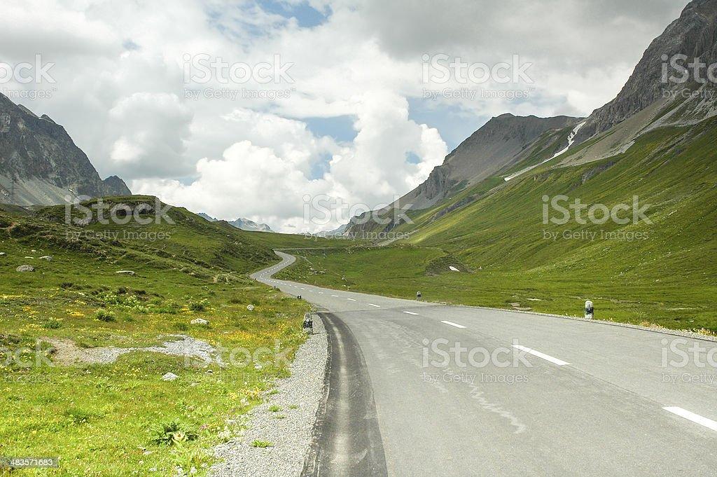Albula-pass, in the Switzerland's Alps stock photo