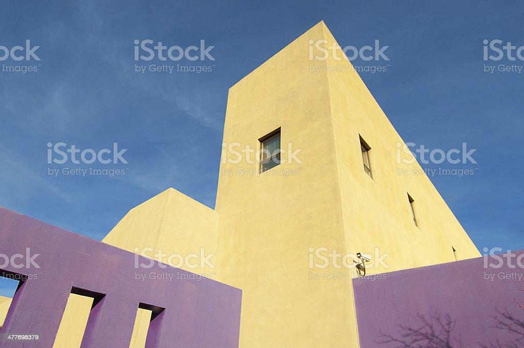 Albuquerque National Hispanic Cultural Center Hacienda-style Modern Building royalty-free stock photo