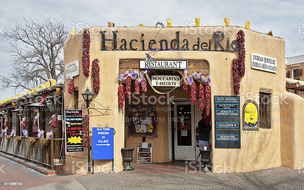 Albuquerque Old Town Southwest Gallery Shop and Restaurant stock photo