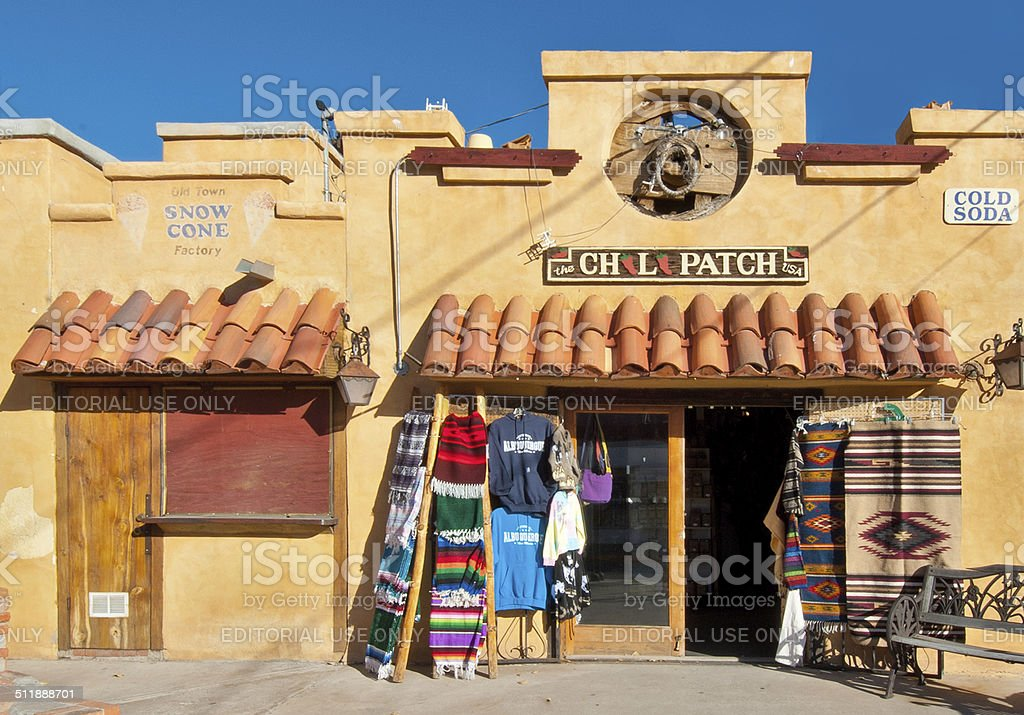 Albuquerque Old Town Southwest Gallery Shop stock photo