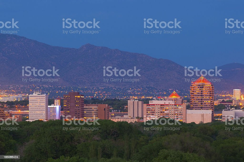 Albuquerque skyline at Dusk royalty-free stock photo