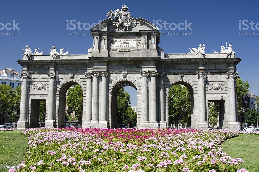 Alcala Gate, Madrid royalty-free stock photo