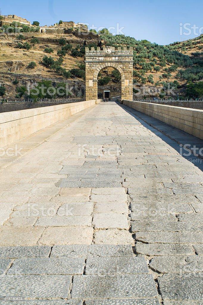 alcantara bridge stock photo