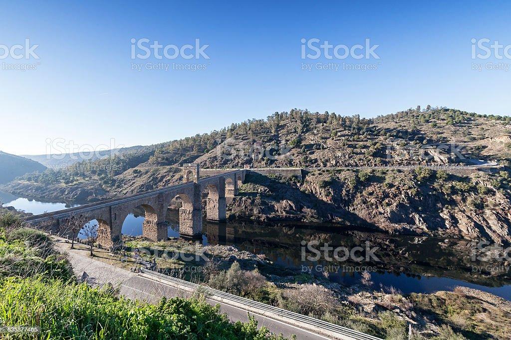 Alc?ntara Bridge stock photo
