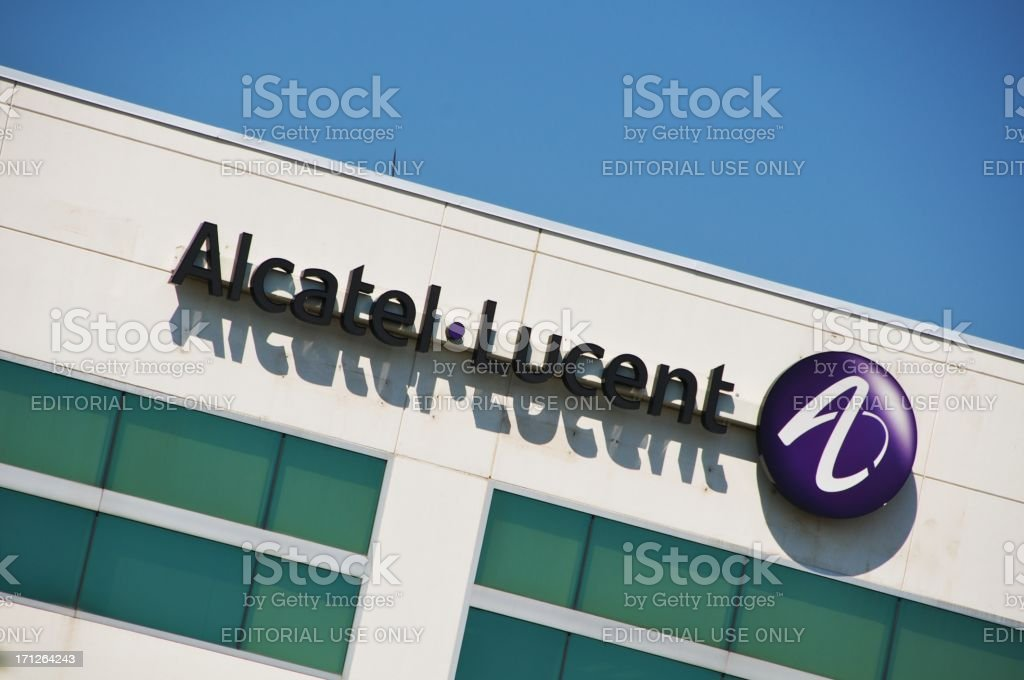 Alcatel - Lucent Office Tower stock photo