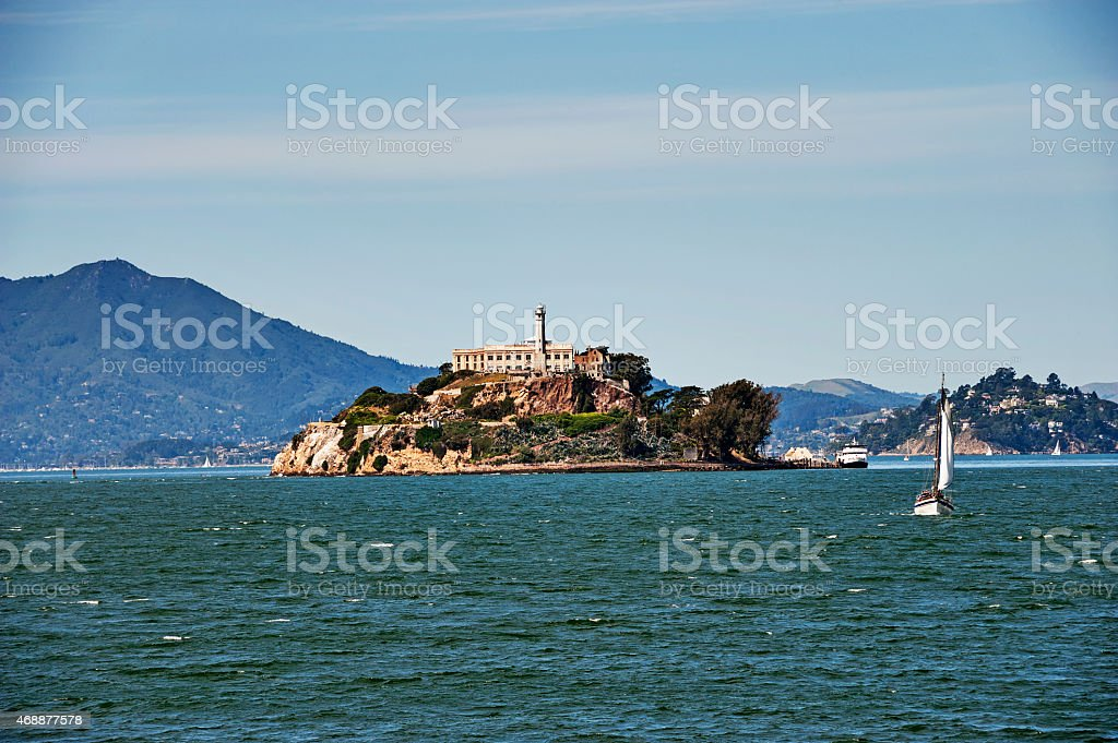 Alcatraz A Prison in San Francisco Bay stock photo